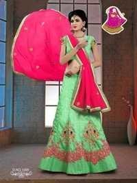 Designer Net Lehenga Saree