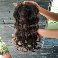 Natural unprocessed wavy hair