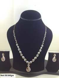 GOLD CZ NECKLACE SET