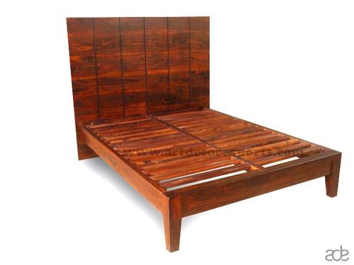Wooden Bed (Large Back)