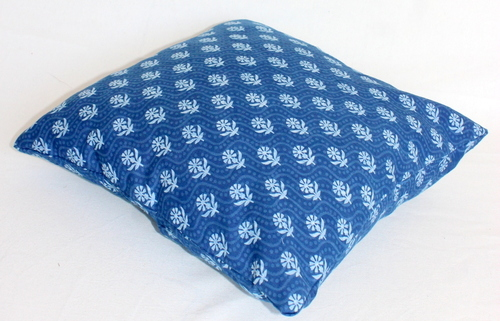 Block Print Cushion Covers NEW DESIGN INDIGO BLUE