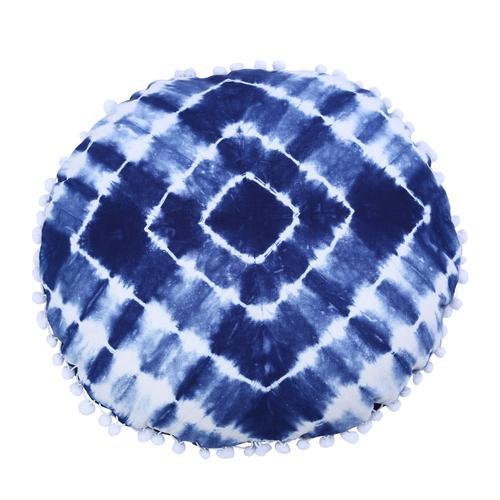 Round Cushion Cover Shibori