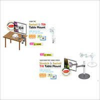 Stretch & Swivel Tilt Table Mount