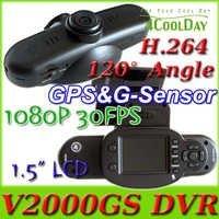 NEW GPS CAR DVR V2000GS DASH CAMERA BLACK BOX HD 1080P