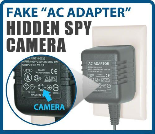 SPY AC ADAPTER HIDDEN CAMERA FOR LONG RECORDING