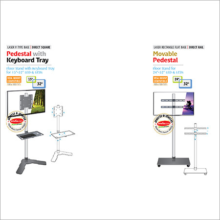 Pedestal With Keyboard Tray