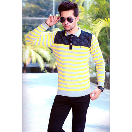 Men's Flat Knit Designer SweatShirt