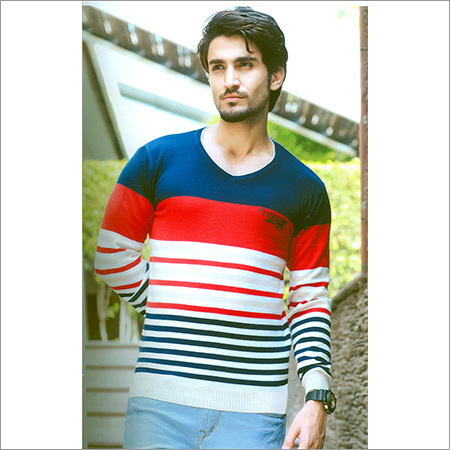 Flat Knit Full Sleeves T-Shirt