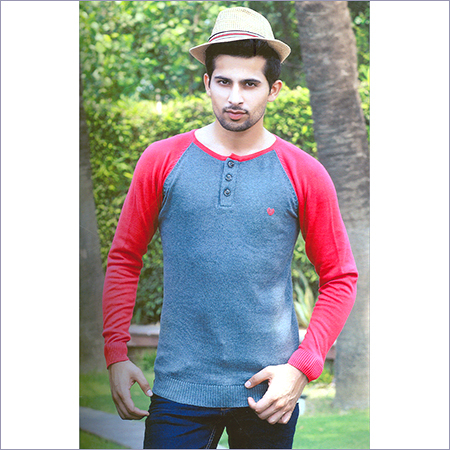 Mens Flat Knit Full Sleeve T-Shirt