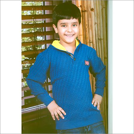 Kids Flat Knit Blue SweatShirt
