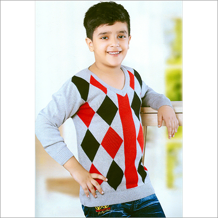 Kids V-Neck Full Sleeve Sweatshirt