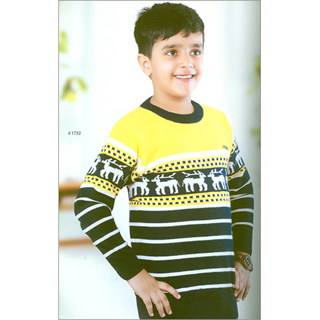 Kids Flat Knitted Full Sleeve Sweatshirt