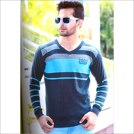 Mens V-Neck Full Sleeves Sweatshirt