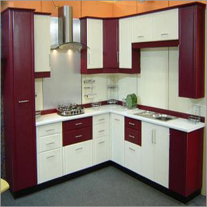 PVC L Shape Modular Kitchen