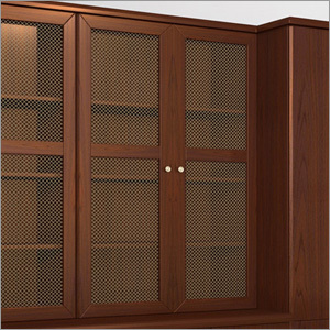 Designer Wooden Wire Mesh Door