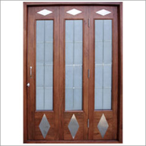 PVC Wooden Wire Mesh Door