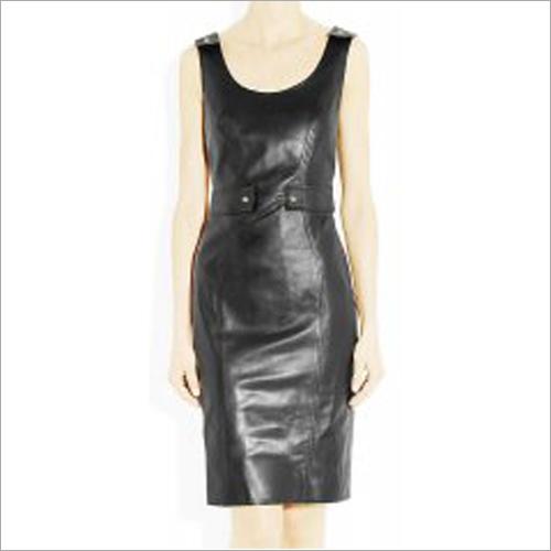 Trendy Leather Dress