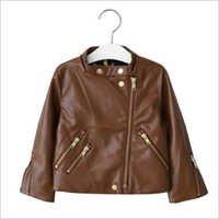 Kids Fashionable Leather Jacket