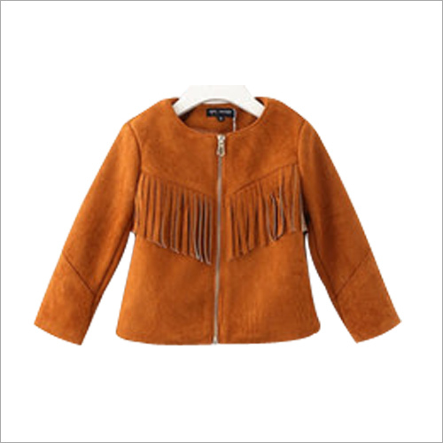 Kids Short Leather Jacket