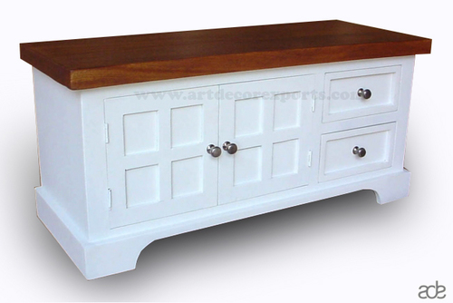 Mango Wood White Painted Cabinet
