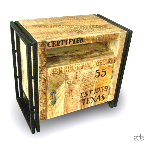 Industrial Chic Bed Side Cabinet