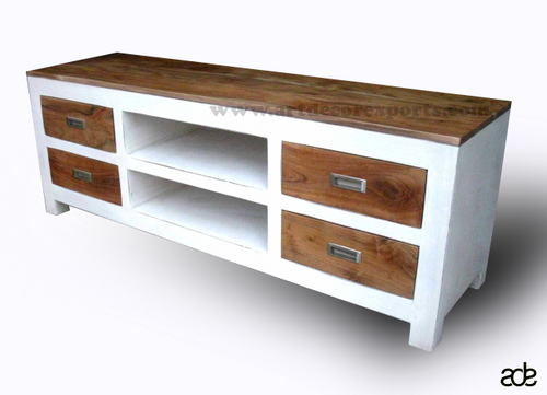 Mango Wood Chic Plasma TV Cabinet