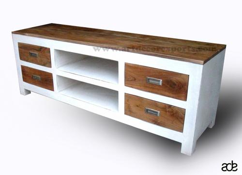 Mango Wood Chic Plasma TV Cabinet