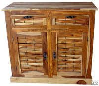 Indian Wood Lattice Cabinet
