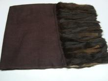 Fur Fring Silk Pashmina
