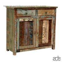 Vintage Block Print Cabinet