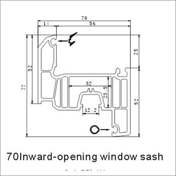 70 Inward Opening Window Sash