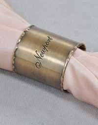 Copper Engraved Napkin Ring