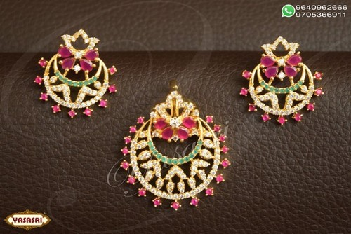 Cz Fancy Traditional Pendent