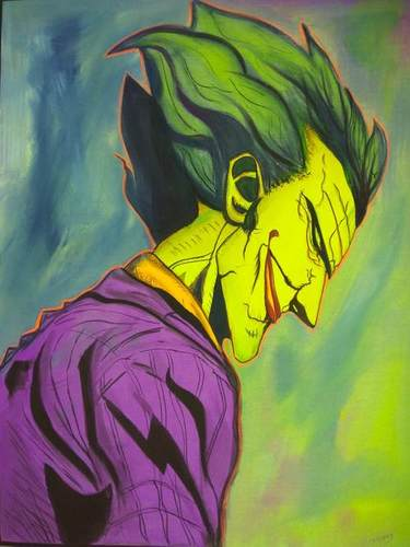 Joker in Black light colour