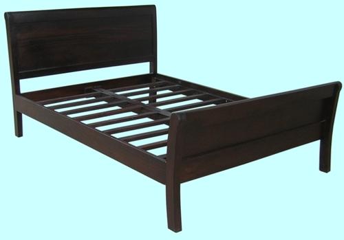 Dark Brown Simplistic Double Bed