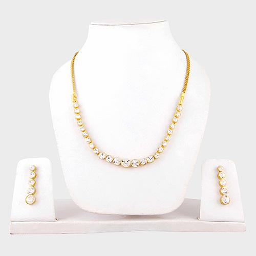 Round Stone Necklace