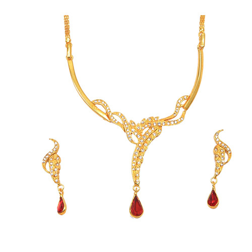 Long Neck Red Necklace