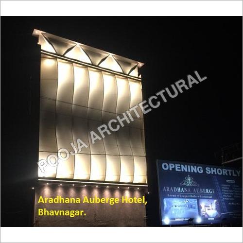 Tensile facade structure