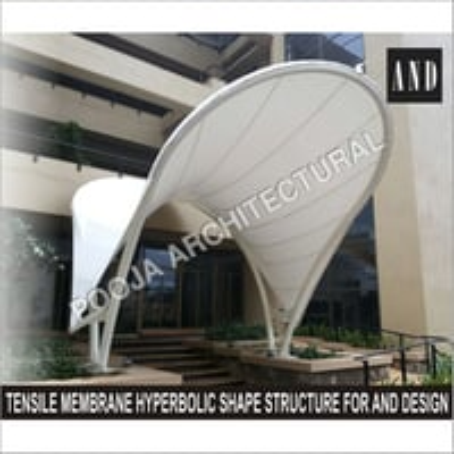 hyperbolic Tensile Membrane entrance canopy.