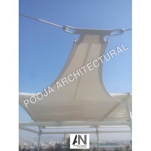 Sail type Tensile Membrane roof.