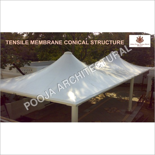Tensile Membrane conical for outdoor sitting