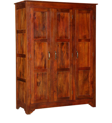 Golden Brown Three door Wardrobe