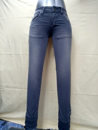 Dark Gray Color Ladies Jeans