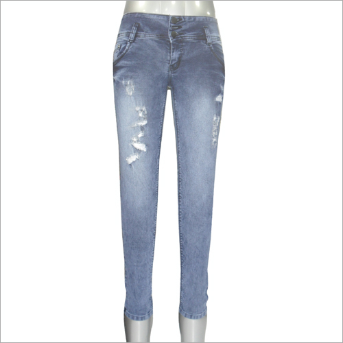Ladies Rugged Pattern Jeans
