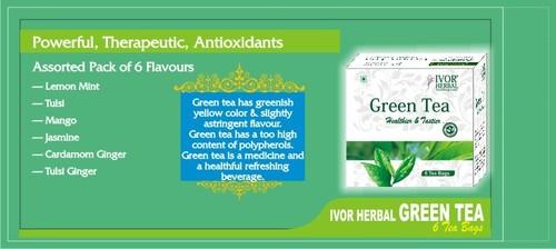 GREEN TEA 6 Tea Bags