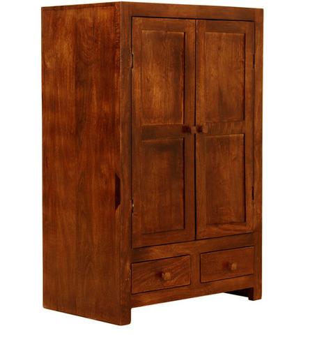 Solid Wood Sandy Brown Wardrobe