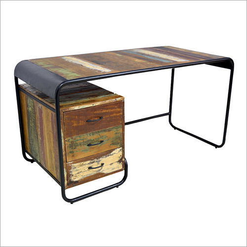 Industrial Reclaimed Wood Writing Desk