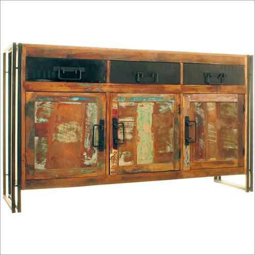 Reclaimed Wood Industrial Sideboard