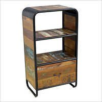 Industrial Reclaimed Wood Iron Vintage Bookshelf