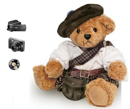SPY HIDDEN TEDDY BEAR SECRET RECORDING CAMERA